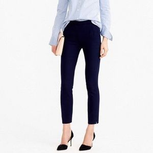 J. Crew Martie Slim Crop Pant in Navy